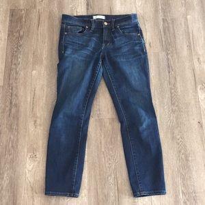 Madewell Skinny Skinny Ankle Crop Dark Wash Jean